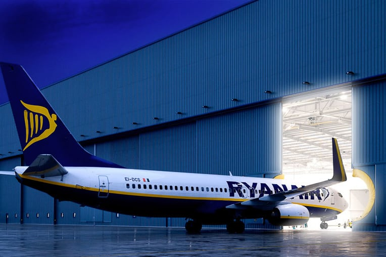 Architectural Photography Ryanair Hanger