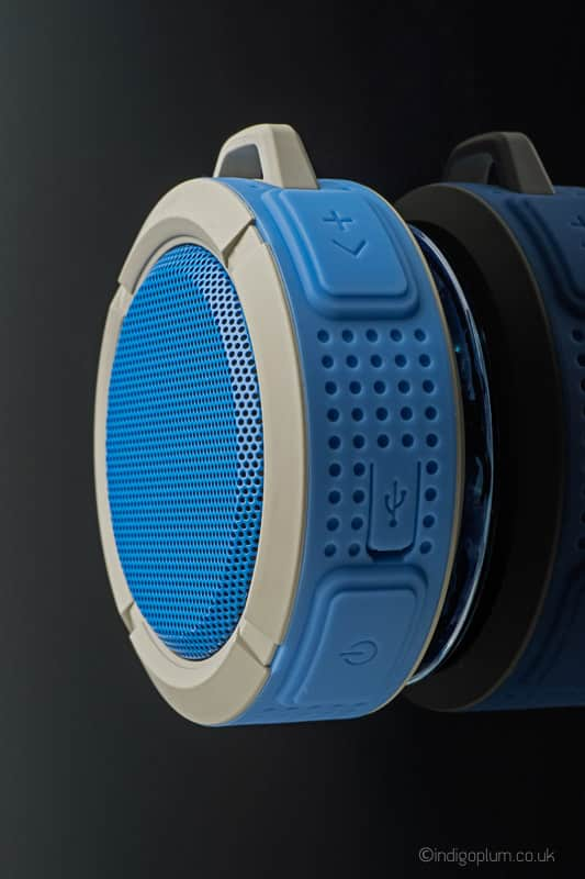 Blue Speaker Product Photography