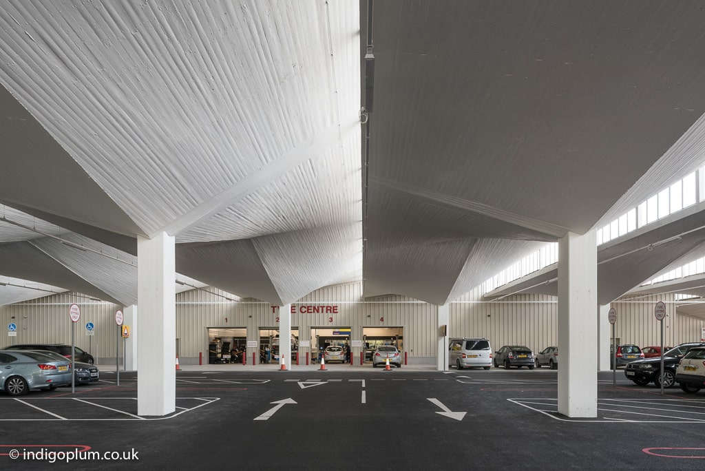 Costco Stevenage undercroft architectural photography