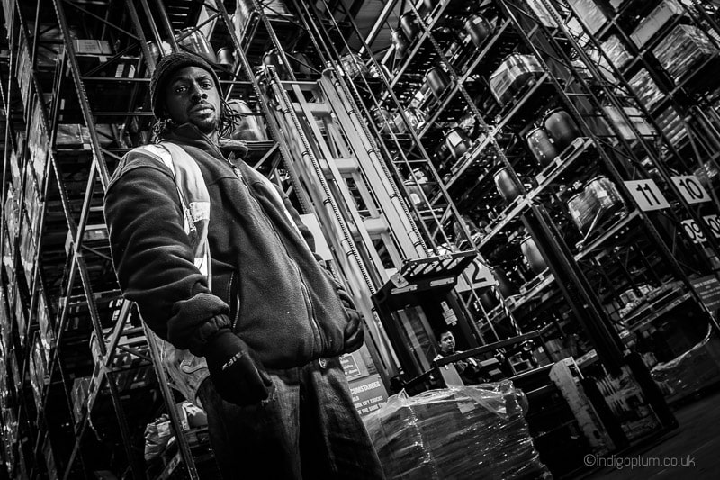 Industrial Photography and worker