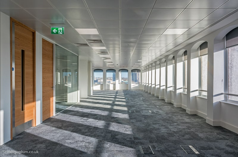 Interior architectural photography of empty office in London
