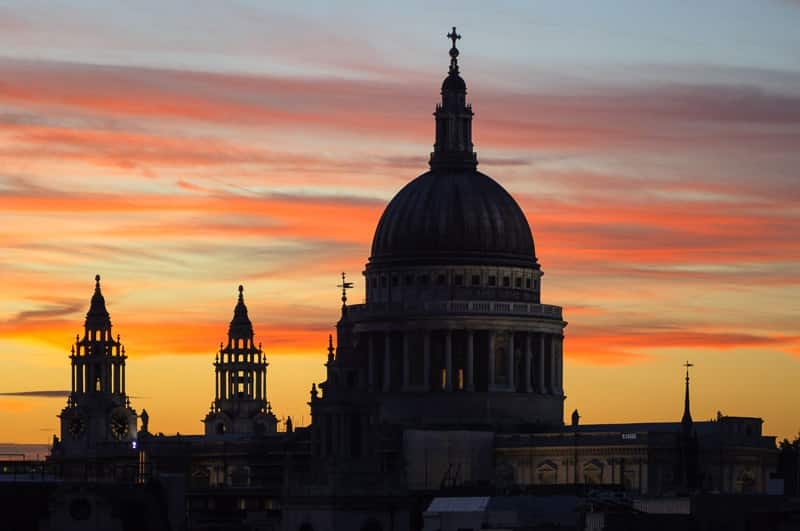 Silhouette of Saint Pauls Cathedral Architectural Photography