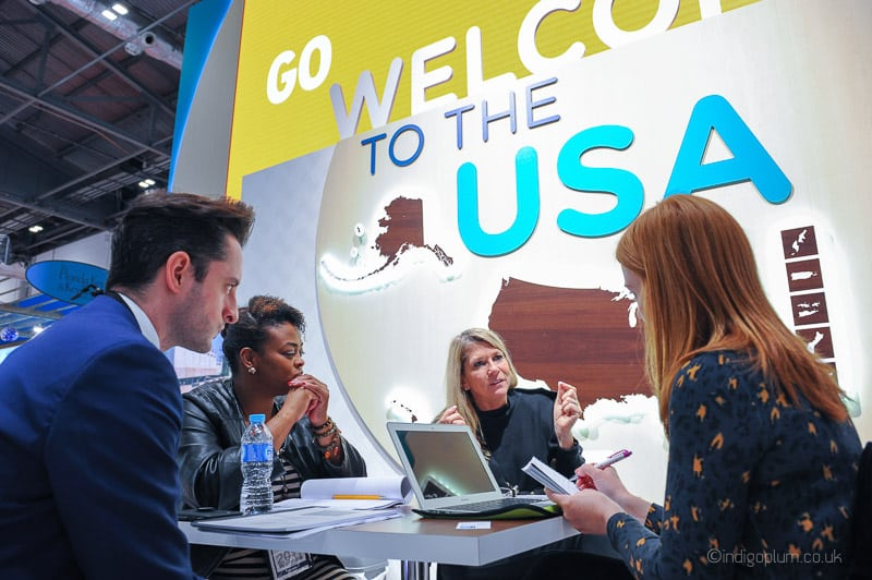 USA trade stand exhibition photo