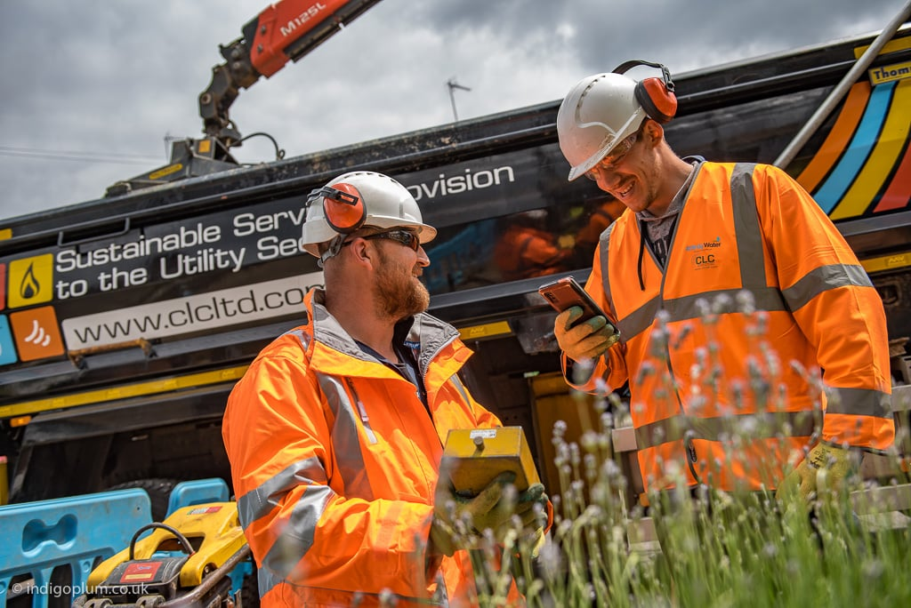 Construction utilities location photography in Hertfordshire